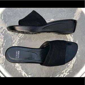 Stuart Weitzman Black Slide Sandals 9.5